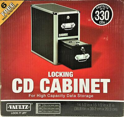 Vaultz 2-drawer Cd File Cabinet Holds 330 Folders Or 120 Slim60 Standard Cases
