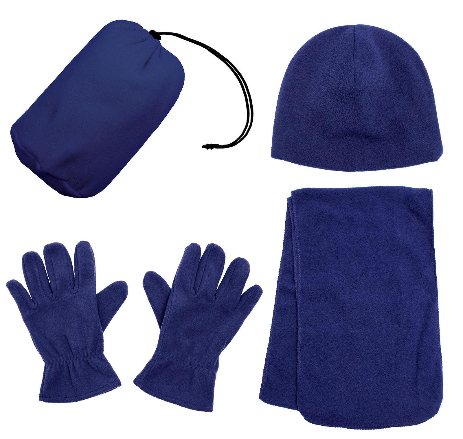 Women's Winter Fleece Cap With Scarf Gloves Hat Accessories