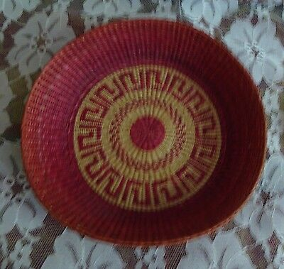 Small hand woven basket tray 8