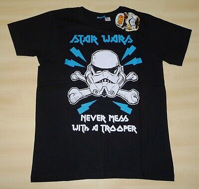 NEW BOYS EX-STORE DISNEY STAR WARS STORMTROOPER T-SHIRT SIZES 9-10 & 11-12 YEARS