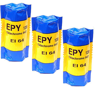 3 Rolls Kodak Ektachrome 64T Tungsten EPY 120 Slide Film Cold Stored
