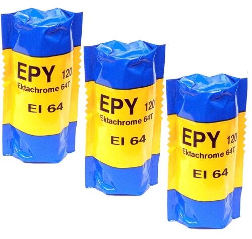 3 Rolls Kodak Ektachrome 64T Tungsten EPY 120 Slide Film Cold Stored