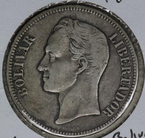 1902 Venezuela 5 Bolivares Silver Coin!