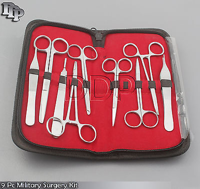 9 Pc O.r Grade Us Military Minor Surgery Suture Set Kit Ds-766