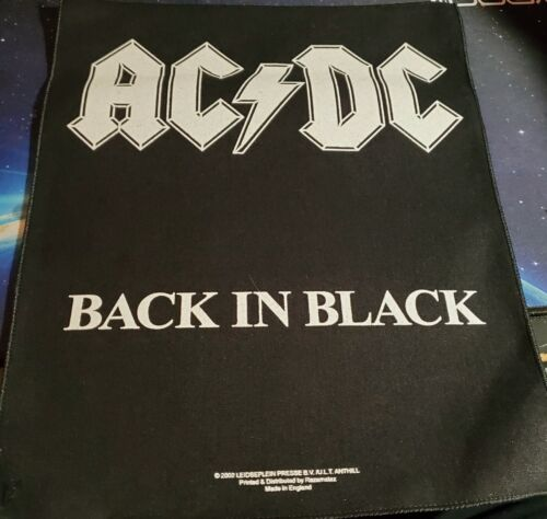 AC/DC - BACK IN BLACK - OFFICIALLY LICENSED SEW-ON BACK PATCH