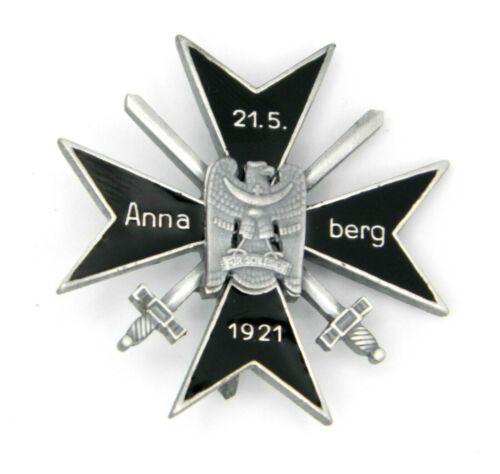 WW1 German Cross of Anna Berg Ehrenabzeichen des Freikorps Oberland 1921