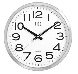 hito Silent Wall Clock Non ticking Large Oversized Excellent Accurate Sweep