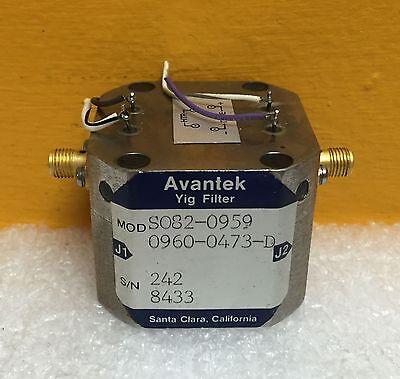 Avantek S082-0959 Hp 0960-0473-d Sma 22 Ghz Yig Tuned Oscillator Sale