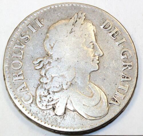 1671 Great Britain / United Kingdom One Crown - F Fine Condition