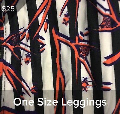 LULAROE HALLOWEEN LEGGINGS OS NWT, SPIDERS 5003