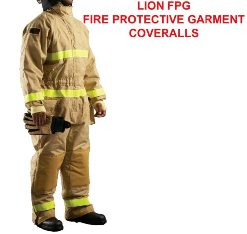 LION FIREFIGHTER BUNKER TURNOUT FPG FIREFIGHTING PROTECTIVE GARMENT COVERALL 3X