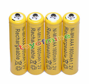 4-AAA-1800mAh-1-2V-Ni-MH-rechargeable-battery-RC-Cell-O