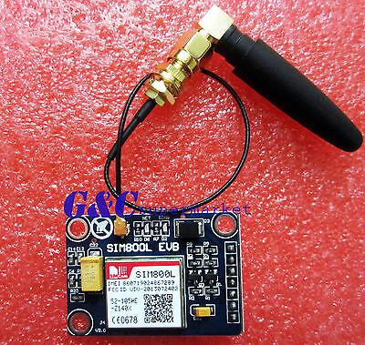 SIM800L V2.2 5V Wireless GSM GPRS MODULE Quad-Band W/ Antenna Cable Cap M105