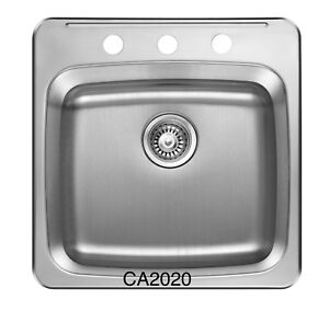 """SS Single bowl, Drop-in KITCHEN SINK 20""""x20"""" for $75!"""