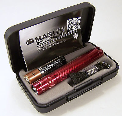 Maglite Solitaire LED 1 Cell AAA Flashlight J3A032 Presentation Gift Box LED