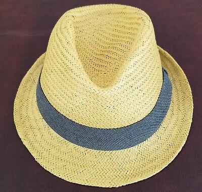J. Crew Unisex Handmade Genuine Panama Straw Fedora Hat - Size L / XL - New $ 58