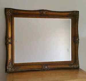MIRROR Antique Victorian ornate Carved Wood Gold Gilt Framed Willoughby Willoughby Area Preview