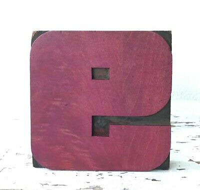 Vintage Wood Letterpress Print Type 5 X 5 Printers Block Cut Number 9 Or 6