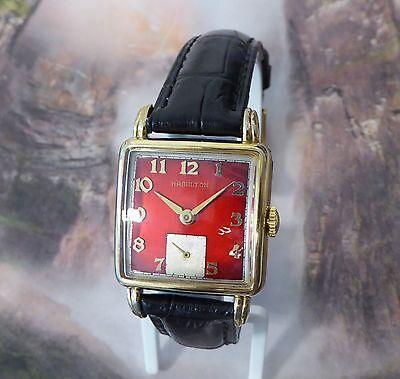 Vintage Men's Dewitt Hamilton Wristwatch 1950's, 17 Jewels, Running