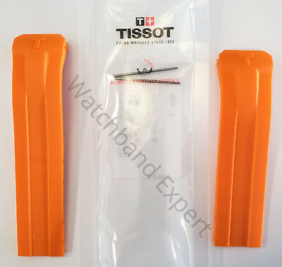 Original Tissot T-Touch Expert SOLAR T091420A Orange Rubber Band Strap with Pins