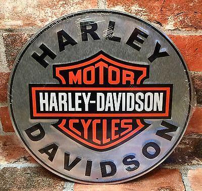 Harley-Davidson Motorcycles Vintage Circular Tin Metal Sign