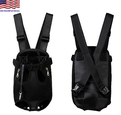 Small Pet Cat Puppy Dog Carrier Front Pack Hiking Backpack Head Legs Out Black Carriers & Totes