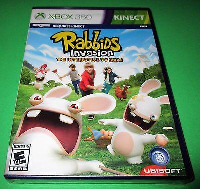 Rabbids Invasion Microsoft Xbox 360 Kinect *Factory Sealed! *Free Shipping!, usado comprar usado  Enviando para Brazil