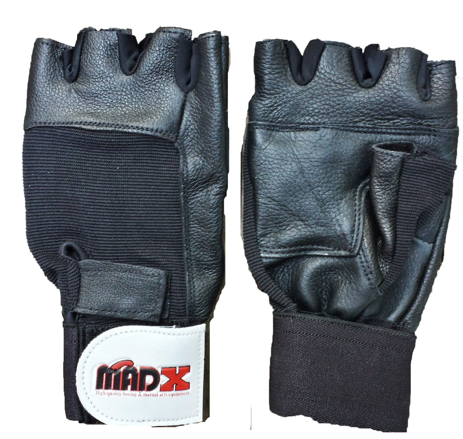 Weight Lifting Gloves: MADX Leather Weight Lifting Gloves Wrap Around Wrist