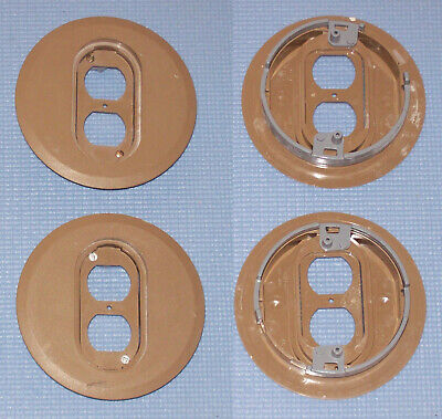 Lot Of 2 Carlon Thomas Betts E97dsclr Nonmetallic Duplex Round Floor Box Covers