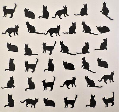Small Black Cat 36 pcs Silhouette Die Cut Scrapbook Cardmaking Embellishment