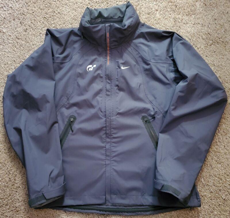Nike Gran Turismo Collaboration Playstation Large Mens Gray Hooded Jacket RARE!!