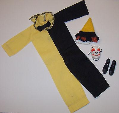 Vintage Ken Maskerade #794 Halloween Gelb & Schwarz Clown Kostüm Barbie 1963