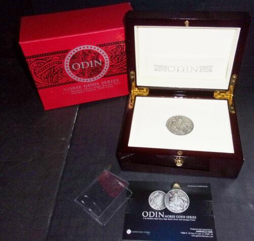 2oz Silver Coin Niue Odin Norse Gods original Boxes $5 COA limited edition 750