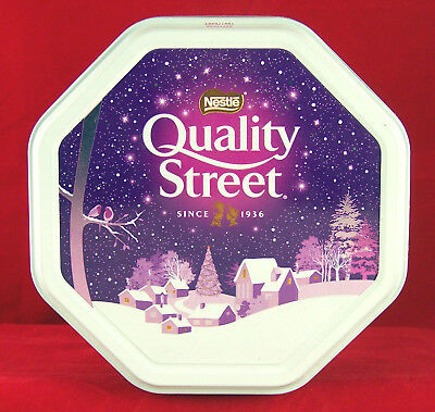 Quality Street Tin Nestle Candy Xmas Holiday Empty Container Can Box Embossed