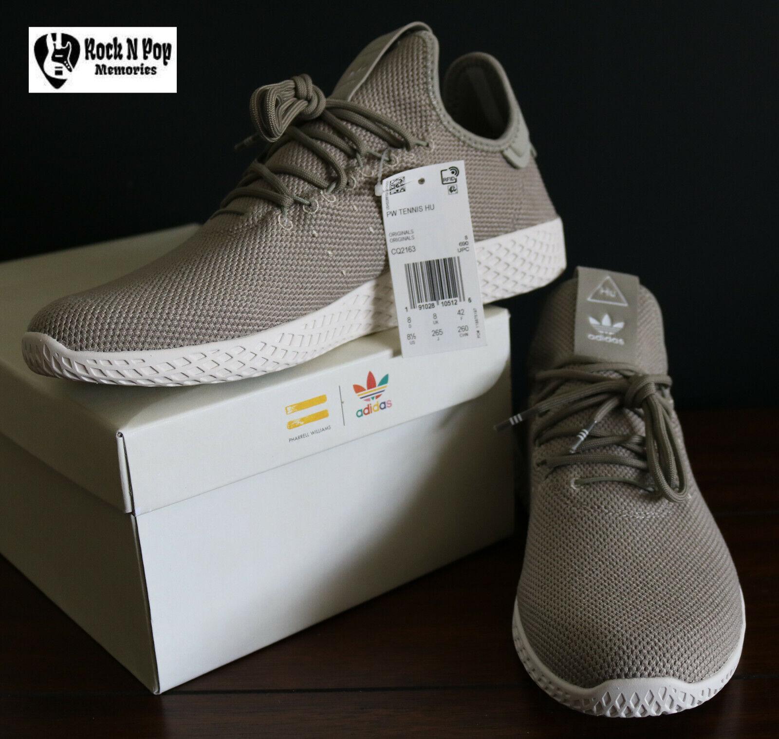 d01dc405c94d1 Mens Adidas Originals Pharrell Williams Tennis HU Beige Tan CQ2163 Shoes