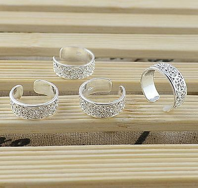 Nugget Toe Ring Adjustable NEW 925 Sterling Silver Plated Body Jewelry Wholesale
