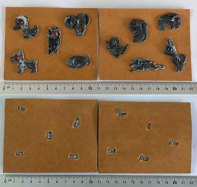 Montiert Tier (10 Orig. WHW Winterhilfswerk Abzeichen Tiere Leichtmetall auf Pappe montiert, ge)