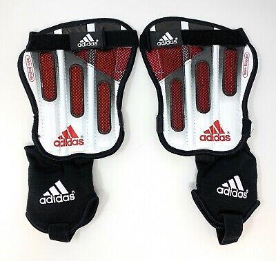 Adidas Soccer Team Bioplate Shin/Ankle Guards Black/White/Red (657146) XS-XL Adidas Red Shin Guard