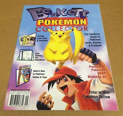 BECKETT September 1999 POKEMON COLLECTOR 1st Issue MINT NEW UNREAD NO RESERVE!