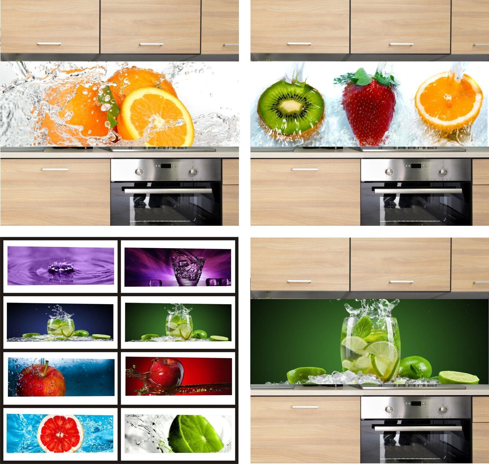 KÜCHENRÜCKWAND - 500 Motive - Spritzschutz Fliesenspiegel Küche Herd Acrylglas