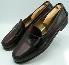 Bass Mens Penny Loafers - Made in USA - Burgundy Oxblood ...