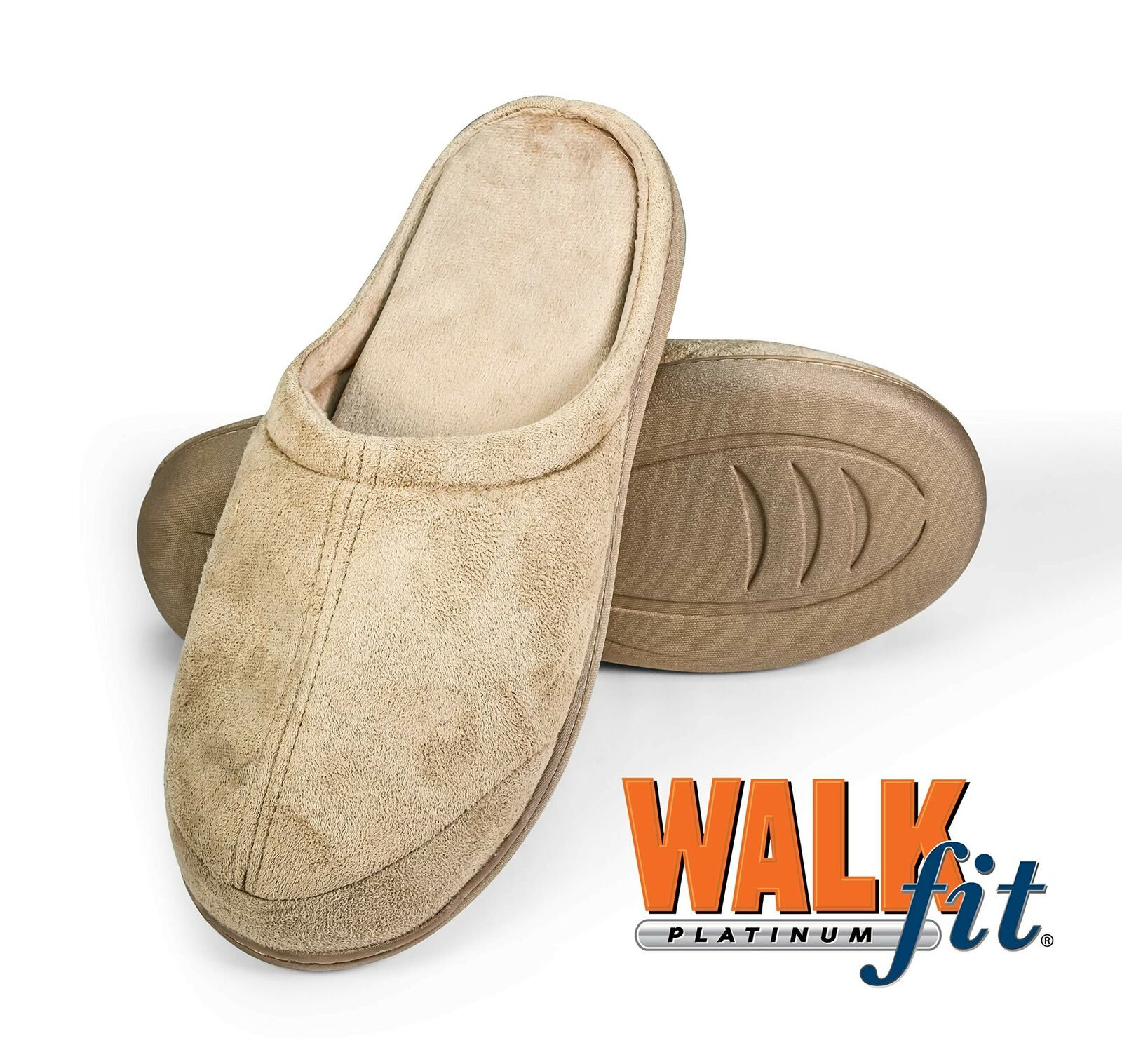 WalkFit Platinum Total Comfort Slippers Women's or Men's House Shoes Memory F...