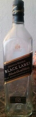 Johnnie Walker Whisky Bottle 1 Liter Black Label Empty