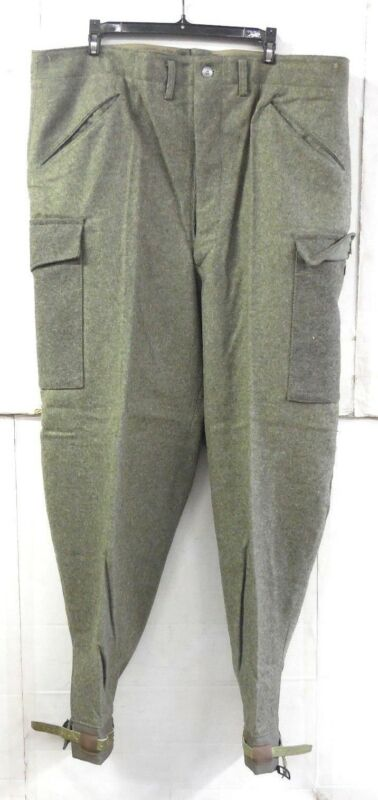 "UNISSUED WWII (DATED 194O) SWEDISH M39 ARMY WOOL FIELD TROUSERS (32"" WAIST)"