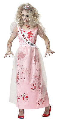 Prom Zombie Walking Dead Haunting Ghost Women Adult Costume - Zombie Prom