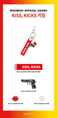 Weki Meki OFFICIAL GOODS KISS, KICKS KEYRING KEY RING SEALED, usado segunda mano  Embacar hacia Mexico