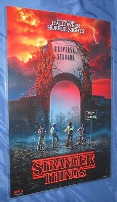 Halloween Horror Nights (HALLOWEEN HORROR NIGHTS 2018 Universal Studios Exclusive Poster ~STRANGER THINGS)