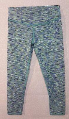 FABLETICS Salar Space Dye Capri Workout Yoga Leggings XS Cobalt Multi MINT