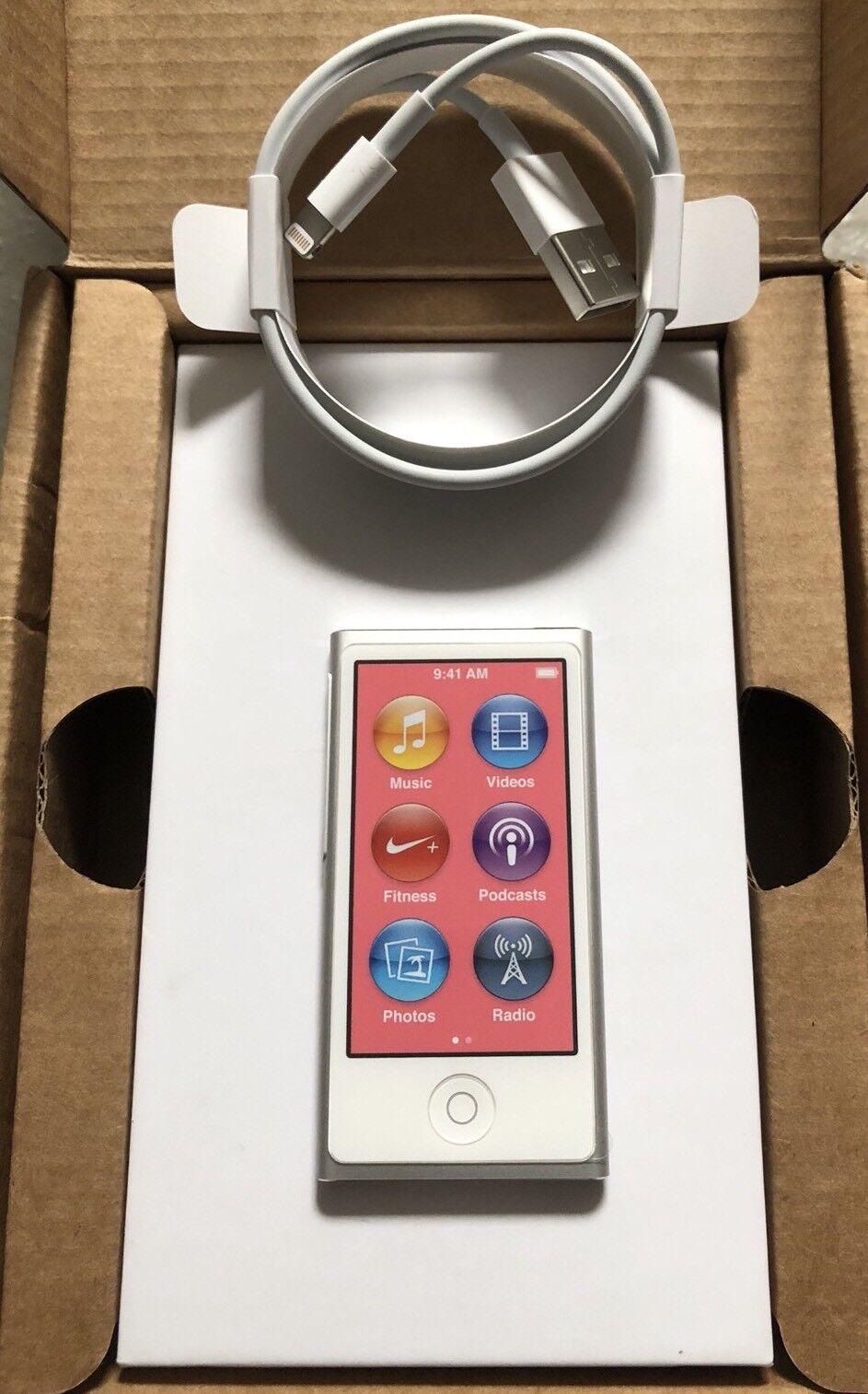 Apple Ipod Nano 7. Generation 7G Weiss Silber White Silver 16GB NEU NEW