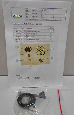 Getinge 6001508775 Main Water Manifold Rebuild Kit